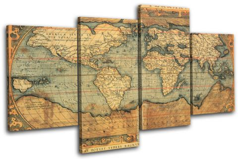 Old World Atlas Maps Flags - 13-0768(00B)-MP04-LO